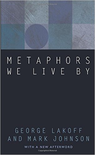 "Bogomslag til ""Metaphors we live by"""